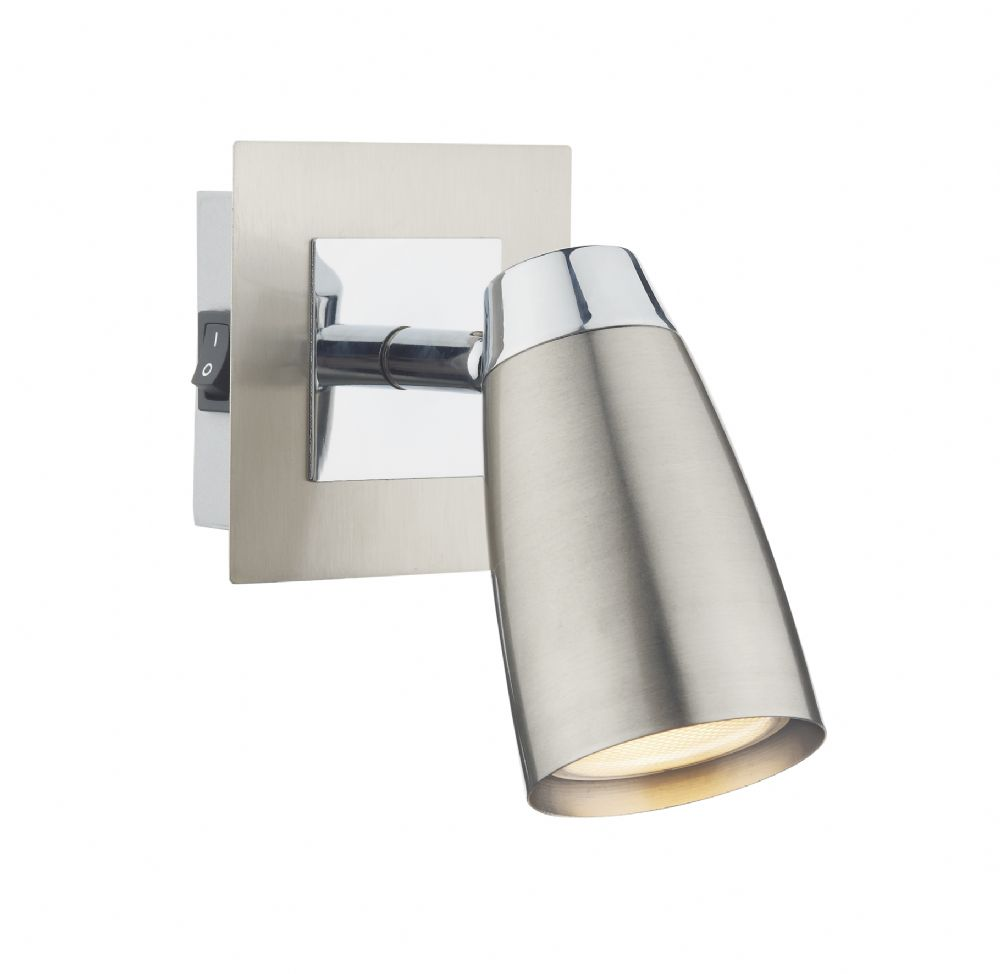 0.2) Loft 1lt Low Energy Spot Satin / Polished Chrome  (Class 2 Double Insulated) BXLOF0746-17